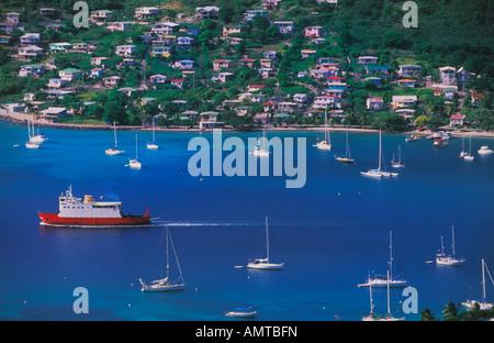 Admiralty Bay auf Bequia, St. Vincent und die Grenadinen - Stockfoto