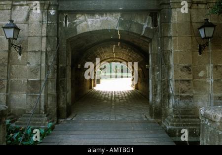 Philippinen Manila Intramuros alten mittelalterlichen Stadtmauer Gateway - Stockfoto