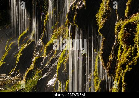 Eine Kaskade von Wasser in die Parcque nationale de Ordesa y Monte Perdido, Valle de Ordesa, Pyrenäen - Stockfoto