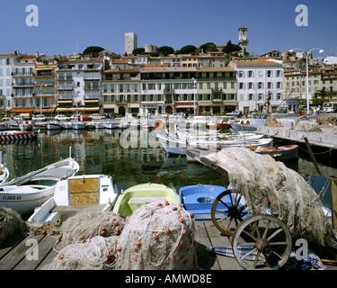 FR - COTE d ' Azur: Hafen von Cannes - Stockfoto