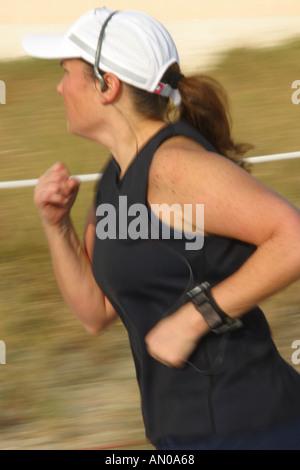 Miami Beach Florida jogger - Stockfoto