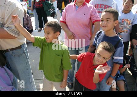 Miami Florida Little Havanna kubanische Calle Ocho Tres Reyes Magos drei Könige Parade Würdenträger - Stockfoto