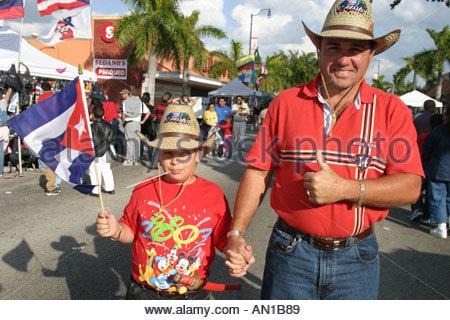 Miami Florida Little Havanna kubanische Calle Ocho Tres Reyes Magos drei Könige Parade Festival Urlaub - Stockfoto