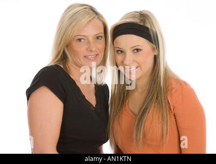 Mutter und Tochter zusammen - Stockfoto