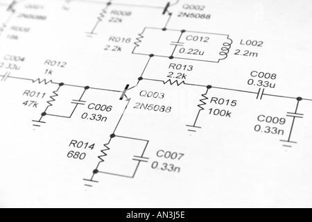 Schaltplan Stockfoto, Bild: 36268714 - Alamy