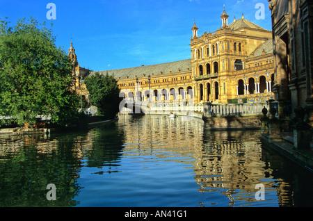 Plaza de Espana, Sevilla, Andalusien, Spanien, Europa - Stockfoto