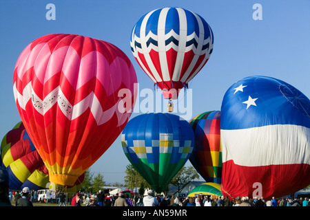 Heißluft Ballons Festival in Walla Walla, Washington - Stockfoto