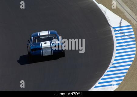 Gary Goeringer Rennen 1968 Ford Mustang bei den 2006 Monterey Historic Automobil Rennen - Stockfoto