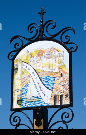 Lynton und Lynmouth bildliche Zeichen - Stockfoto