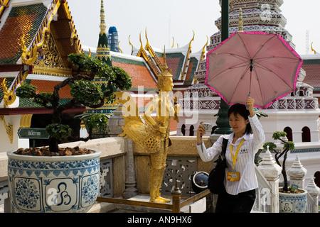 Touristische Besuche den Grand Palace Komplex Bangkok Thailand - Stockfoto