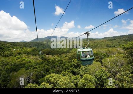 Gondel-Kabine der Skyrail Rainforest Barron Gorge National Park-Queensland-Australien - Stockfoto