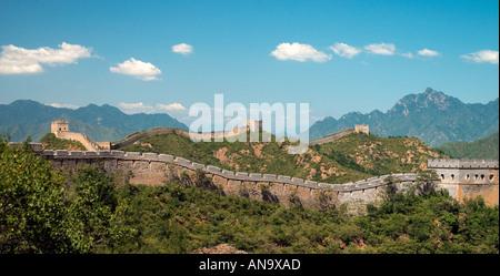 Chinesische Mauer bei Jinshanling in der Nähe von Beijing, China - Stockfoto