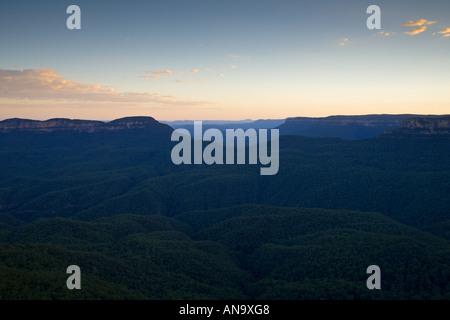Die drei Schwestern aus New South Wales Australien Echo Point Blue Mountains National Park - Stockfoto