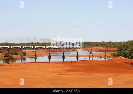 Ausgetrocknet, River, Western Australia - Stockfoto