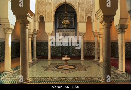 Waschungen Zimmer in Moulay Ismail Mausoleum Meknes Marokko - Stockfoto