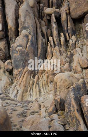 Felsformationen in den Alabama Hills in Lone Pine ca Usa - Stockfoto