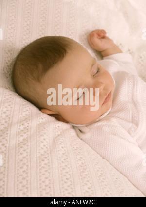 Schlafendes Babymädchen - Stockfoto