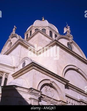 Kathedrale St. Jacob, Sibenik, Kroatien. Kulturelles Erbe der UNESCO - Stockfoto