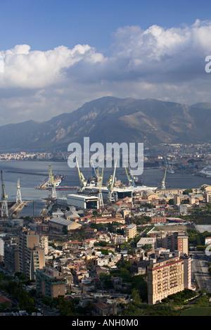 Palermo von Monte Pellegrino, Sizilien, Italien - Stockfoto