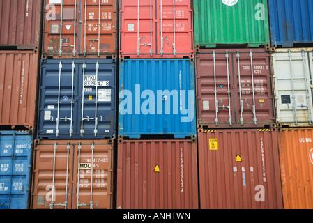 Frachtcontainer, full-frame - Stockfoto
