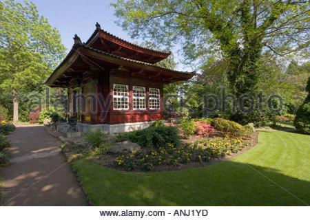 Japanisches Teehaus Garten Pavillon Exotische Architektur Gebäude Im