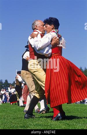 Die Halsinge-Hambo-Volkstanz-Festival in Provinz von Halsingland oder Hälsingland in Schweden - Stockfoto