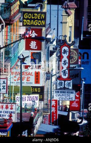 Chinatown unterzeichnet San Francisco Kalifornien USA - Stockfoto