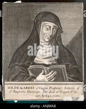 St. Hildegard Von Bingen - Stockfoto