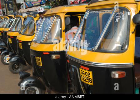Autorickshaws Margao Goa Indien - Stockfoto