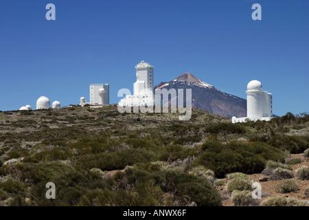 Sternwarte auf Mount Cabezon im Parque-Teide-Teneriffa-Kanarische Inseln-Spanien-Europa - Stockfoto