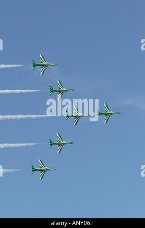 BAE Falken der Royal Saudi Ariabia Air Force erklingt in der Al Ain Airshow 2007 Vereinigte Arabische Emirate - Stockfoto