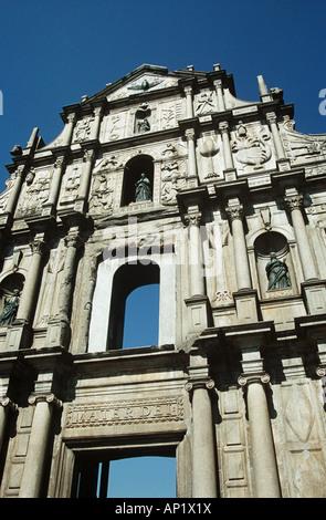 Saint-Paul Kirche, auch bekannt als Sam Ba singen Tzik, Macau, China - Stockfoto