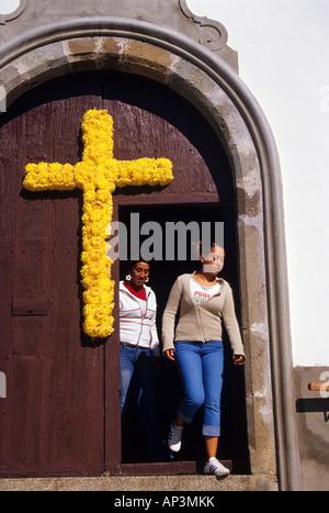 Mai Kreuz in Buenavista del Norte Teneriffa Kanarische Inseln Spanien - Stockfoto