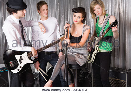 Rock-band - Stockfoto