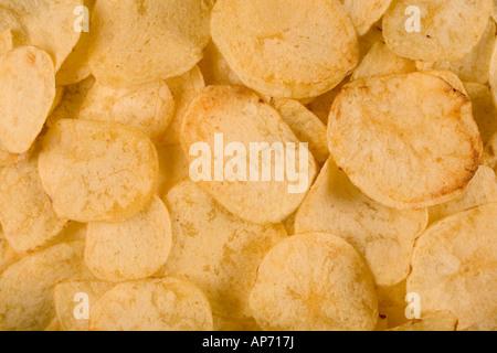 Full-Frame-Bild von Kartoffel-chips - Stockfoto