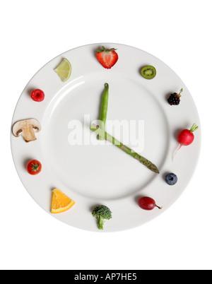 Essen-Uhr - Stockfoto