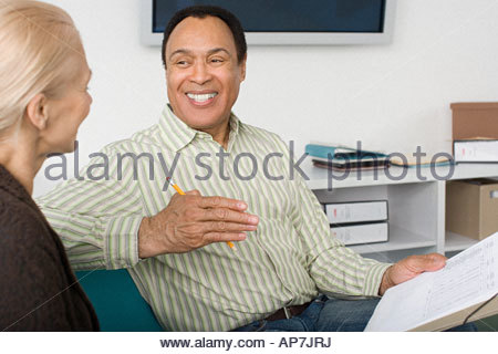 Kollegen, die Diskussion - Stockfoto