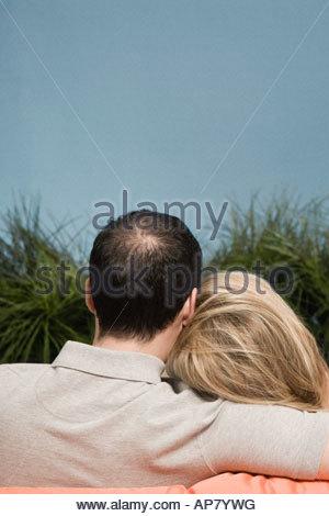 Ansicht der Rückseite des Paar - Stockfoto