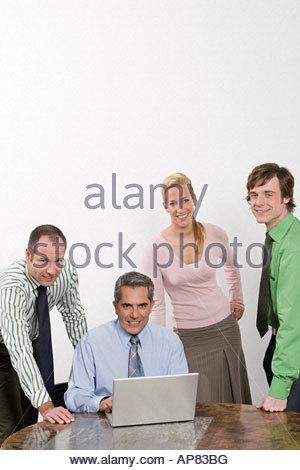 Porträt von Kollegen - Stockfoto