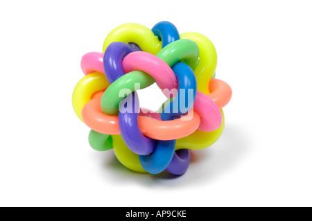 Buntes Puzzle Gummiball - Stockfoto