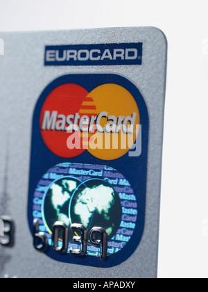 Kreditkarte mit Hologramm - Stockfoto