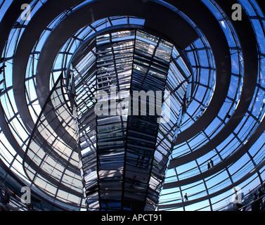Reichstagskuppel, Berlin, Deutschland - Stockfoto