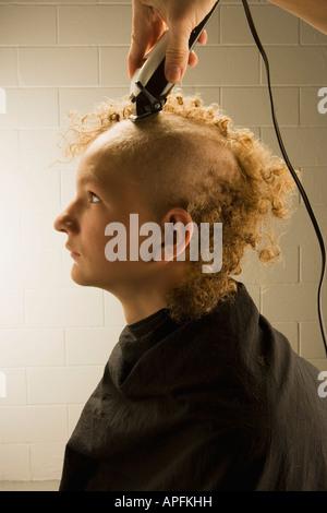 Ich summte Sie Haare - Stockfoto