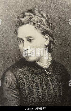 Ihre Königliche Hoheit Prinzessin Beatrice jüngste Tochter von Königin Victoria im Bild datiert 1880 geboren 1857 - Stockfoto