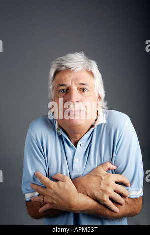 Studio-Porträt eines Mannes, Ausdrücke - Stockfoto