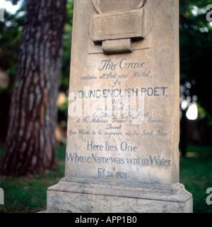 John Keats Grabstein in Rom Italien KATHY DEWITT - Stockfoto