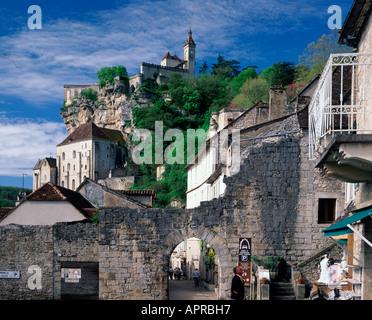 Rocamadour viel midi Pyrenäen Frankreich - Stockfoto