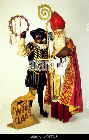 sinterklaas und zwarte piet 5 dec niederl ndisch vater weihnachten niederlande stockfoto bild