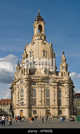 Dresdner Frauenkirche Kirche unserer Dame Dresden Deutschland - Stockfoto