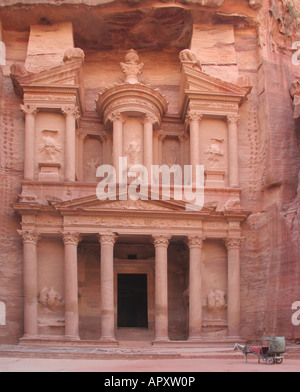 Die Treasury Petra Jordan - Stockfoto